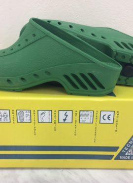 Operační obuv italská, Pury, antistatická zelená
