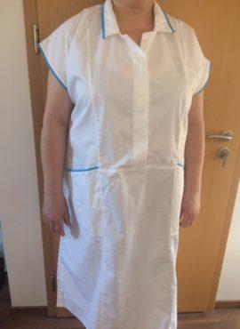 Šaty bílé sesterské + modrý výpustek